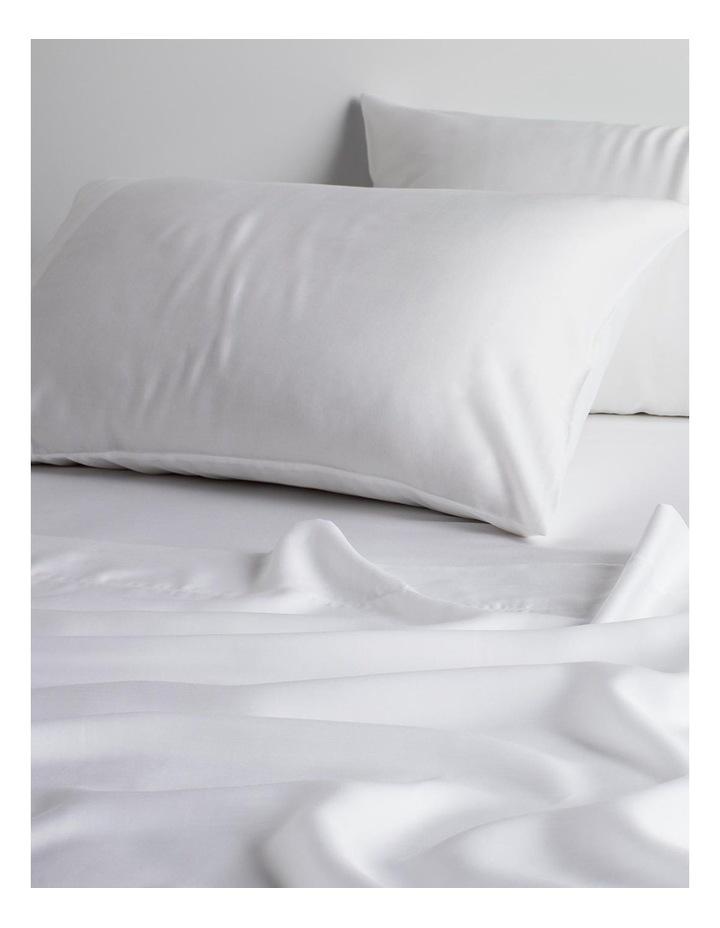 Tencel X Refibra Technology King Sheet Set in White image 2