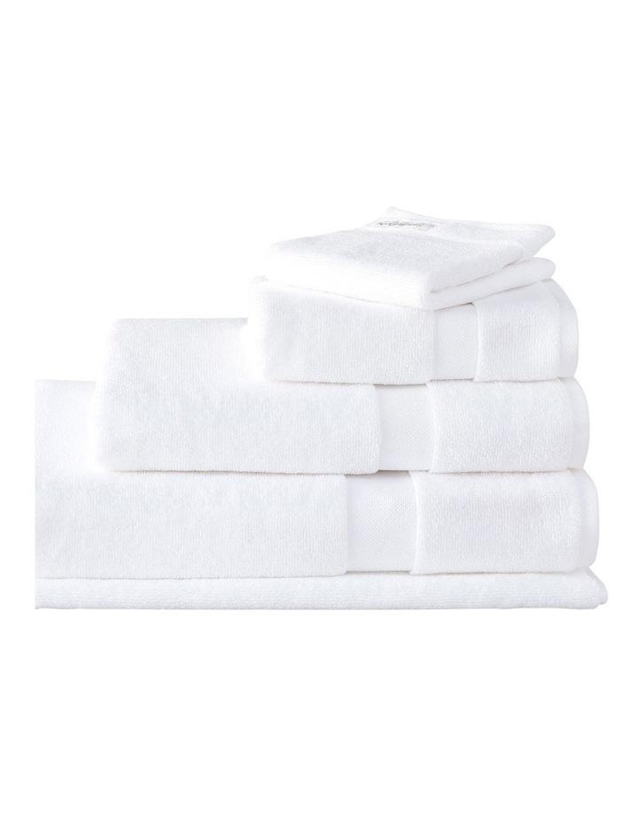 Organic Cotton Eden Towel Range in White image 1