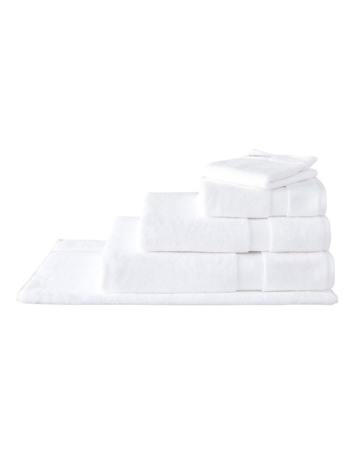 Organic Cotton Eden Towel Range in White image 3