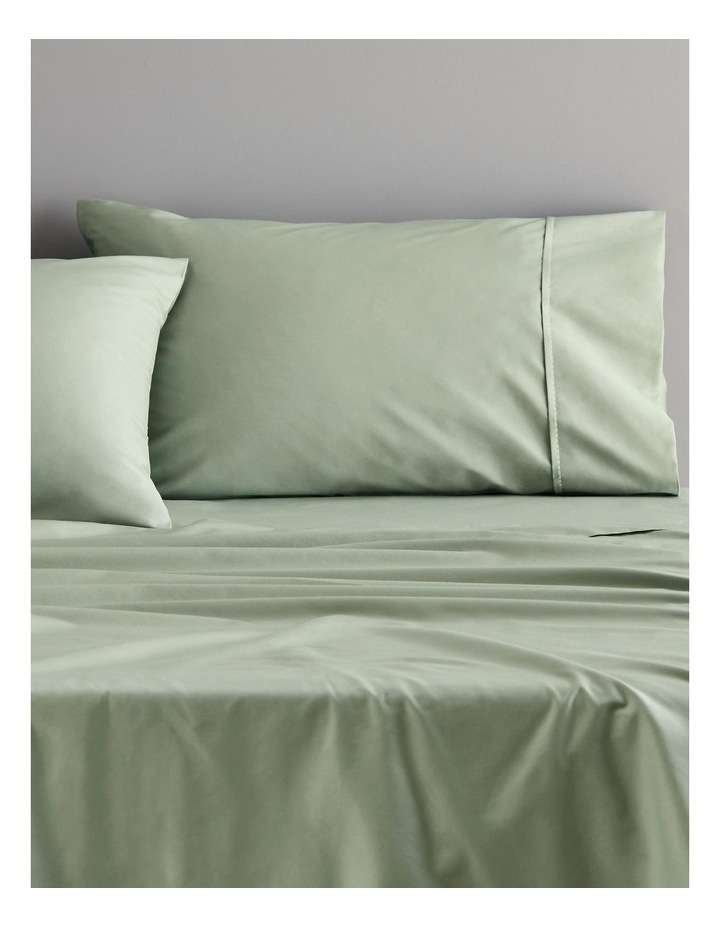Organic Cotton 400tc Sheet Collection in Mineral Green image 2