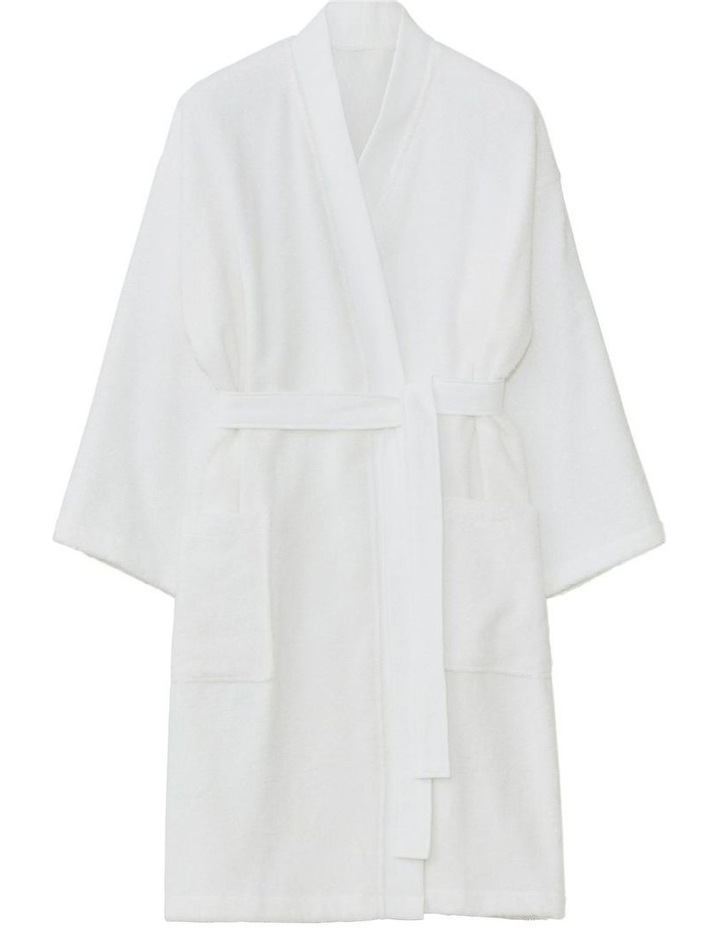 Supersoft Luxury Bath Robe In White image 2