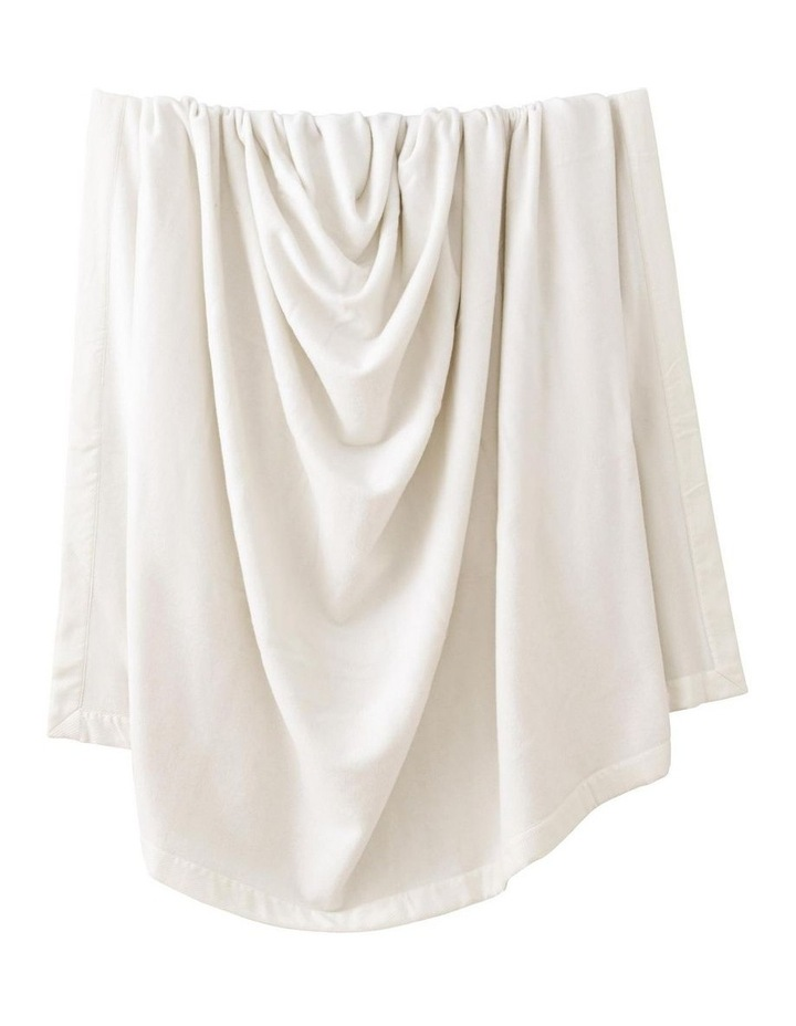 Classic Wool Blanket in Alabaster image 2