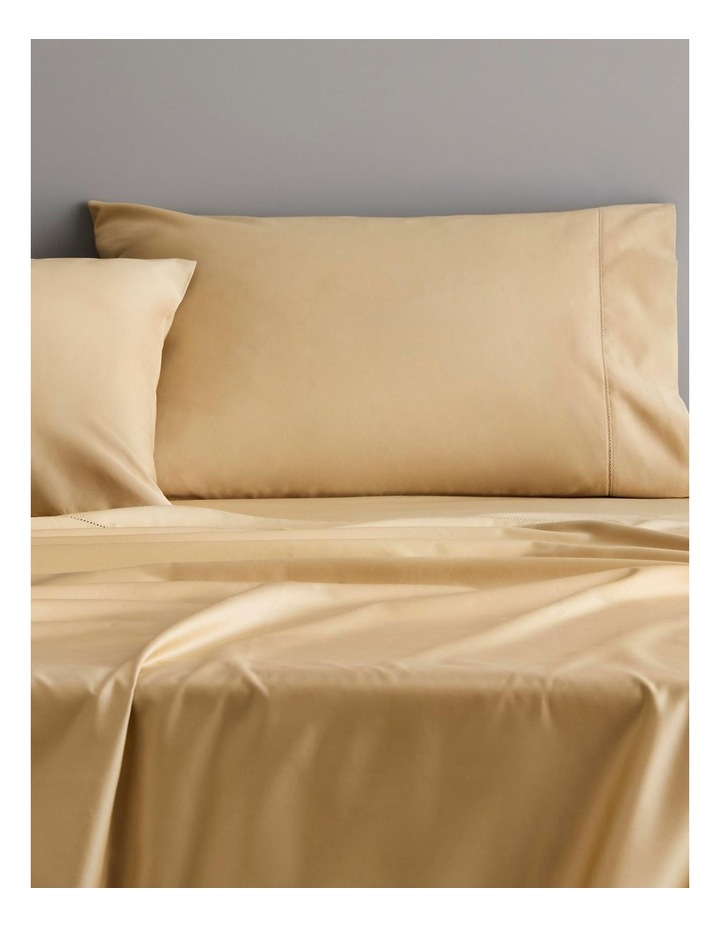 Hotel-Weight Luxury 1000tc Sheet Collection in Gold 40cm image 2