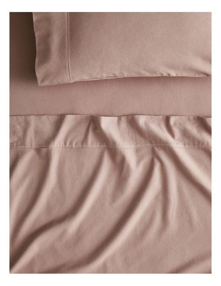 Plain Dye Flannelette Sheet Collection in Cloud Grey image 1