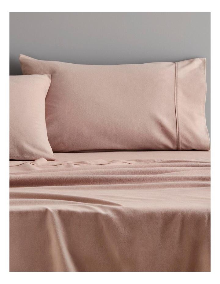 Plain Dye Flannelette Sheet Collection in Cloud Grey image 2