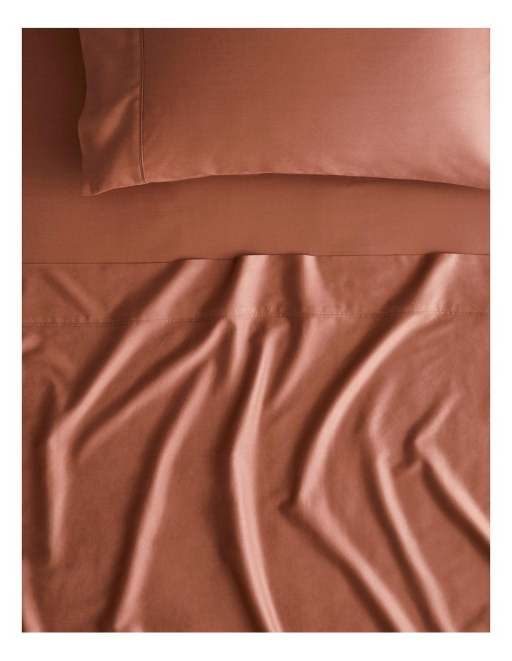 Tencel Lyocell Fibre & Cotton Sheet Set Collection in Redwood image 1