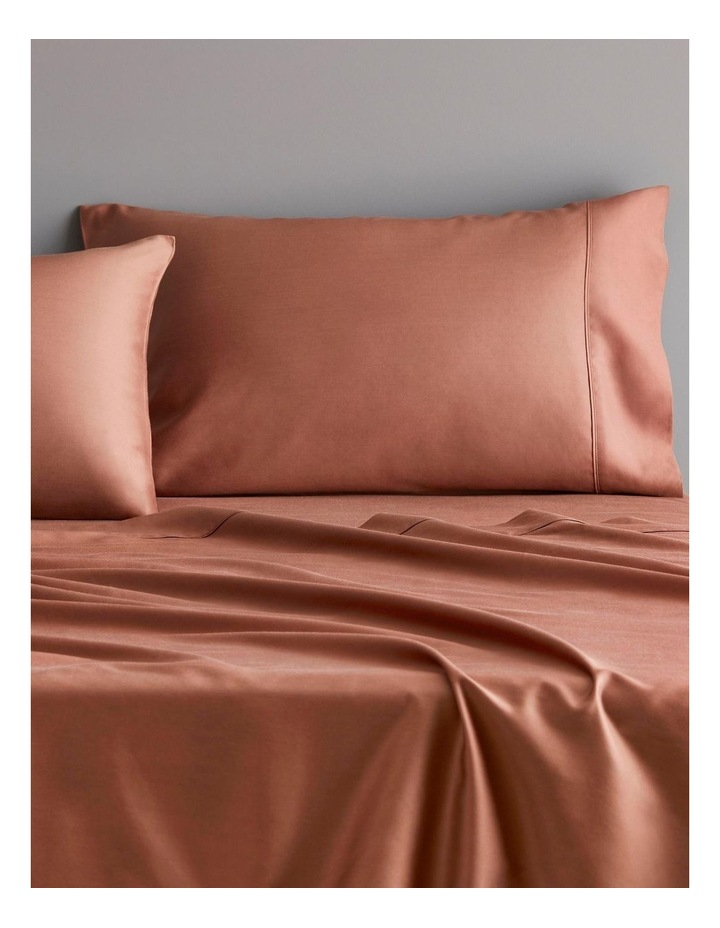 Tencel Lyocell Fibre & Cotton Sheet Set Collection in Redwood image 2