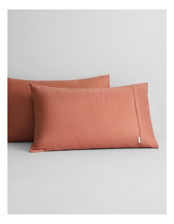Tencel Lyocell Fibre & Cotton Sheet Set Collection in Redwood image 3