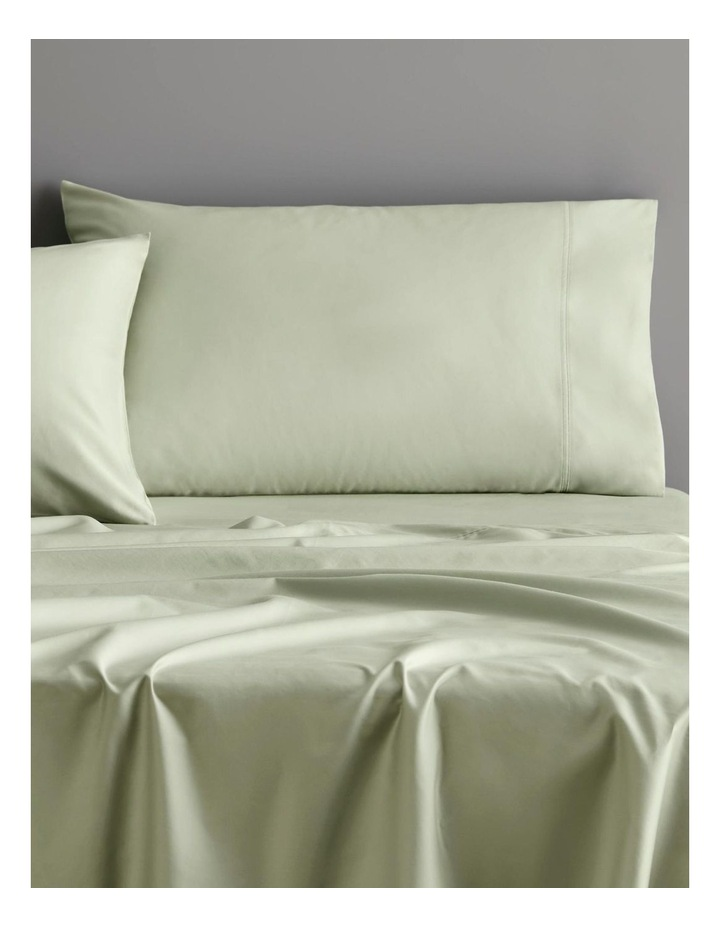 Egyptian Blend 600TC Sateen Sheet Set Collection in Whisper Green image 2