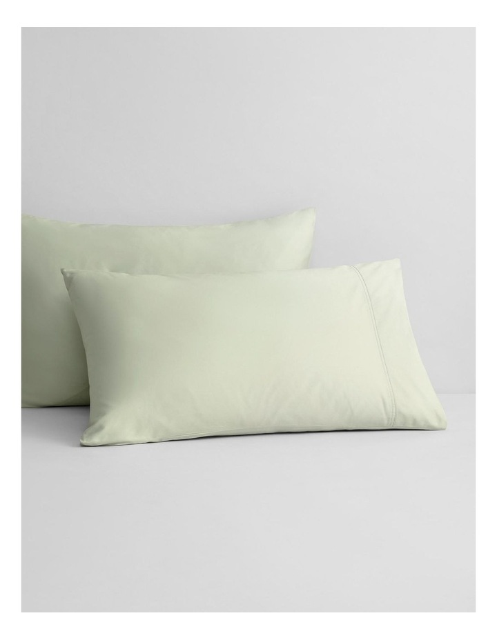 Egyptian Blend 600TC Sateen Sheet Set Collection in Whisper Green image 3
