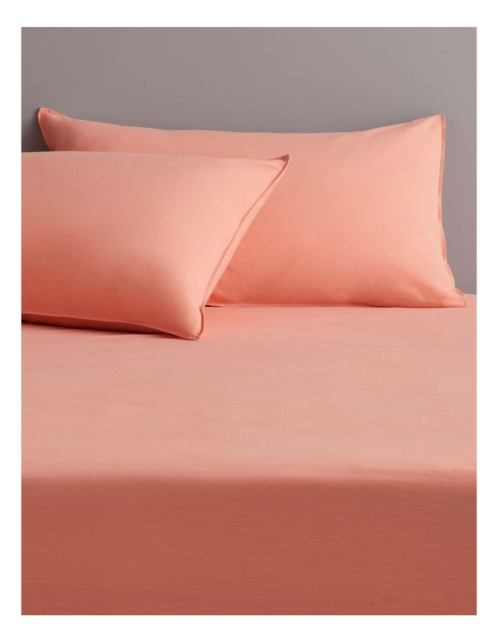 Onslo Bedsheet Collection in Coral Glow image 1