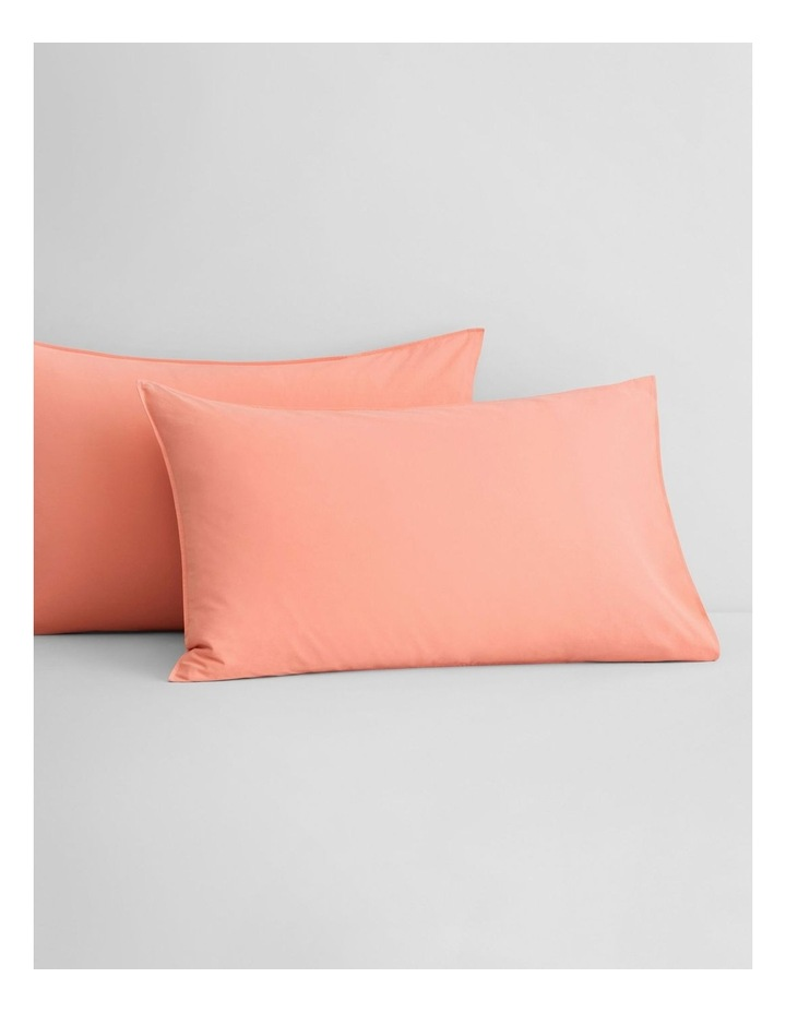Onslo Bedsheet Collection in Coral Glow image 3