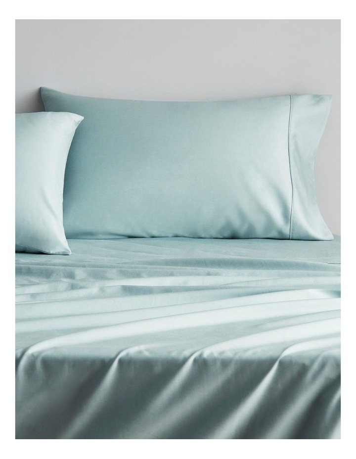 Tencel Lyocell Fibre & Cotton Sheet Collection in Mint Frost image 2