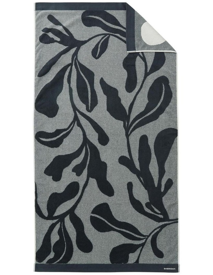 Cowrie Bay Beach Towel in Carbon image 1