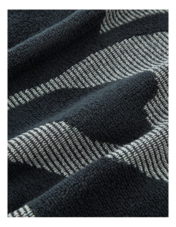 Cowrie Bay Beach Towel in Carbon image 3