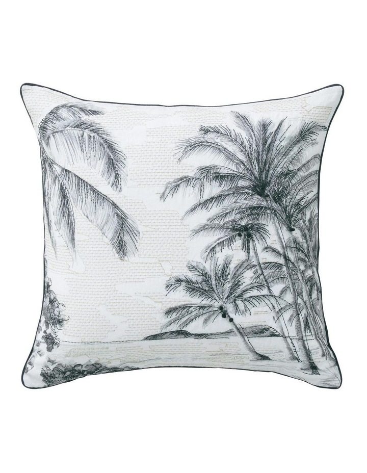 Lovis Square Cushion in Carbon image 1