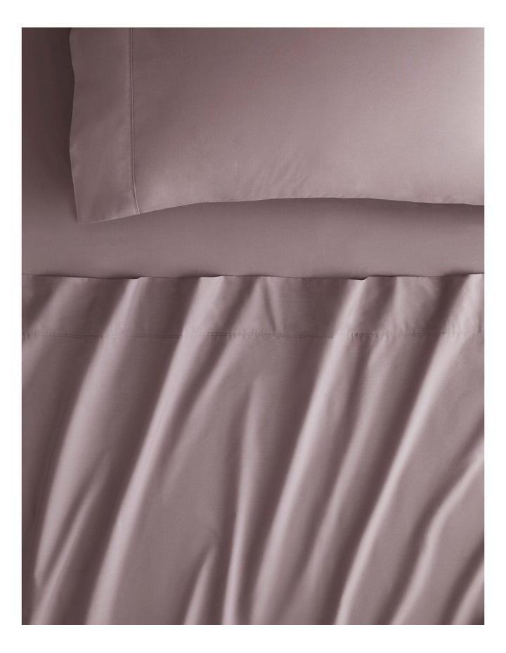 Organic Cotton 300TC Percale Sheet Collection In Fig image 1