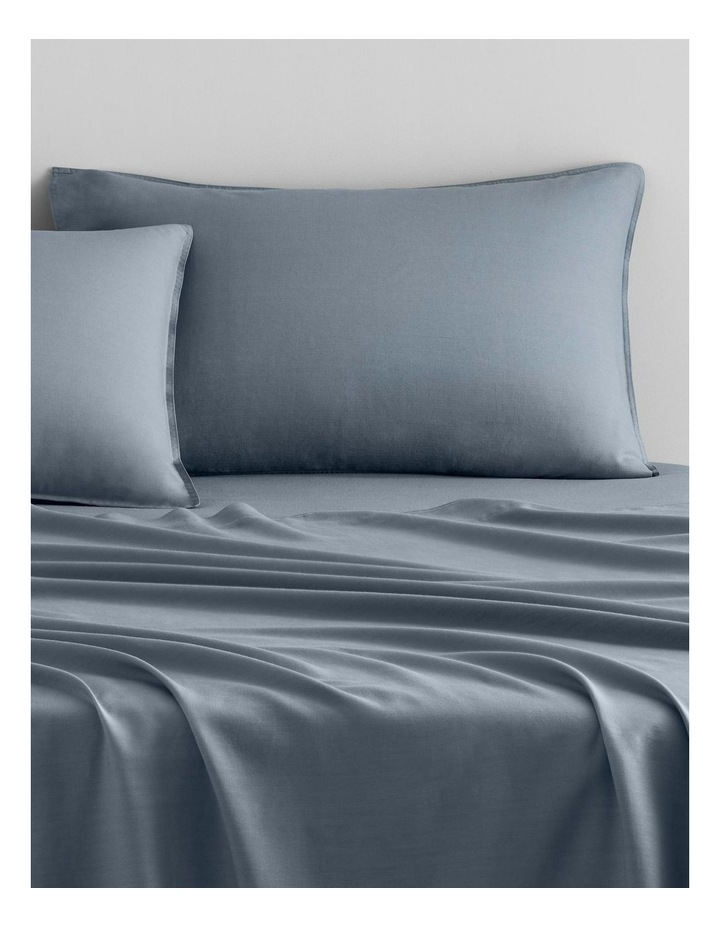 Supersoft Lyocell Linen Sheet Set Collection in Bluebird image 2