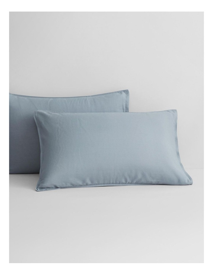 Supersoft Lyocell Linen Sheet Set Collection in Bluebird image 3