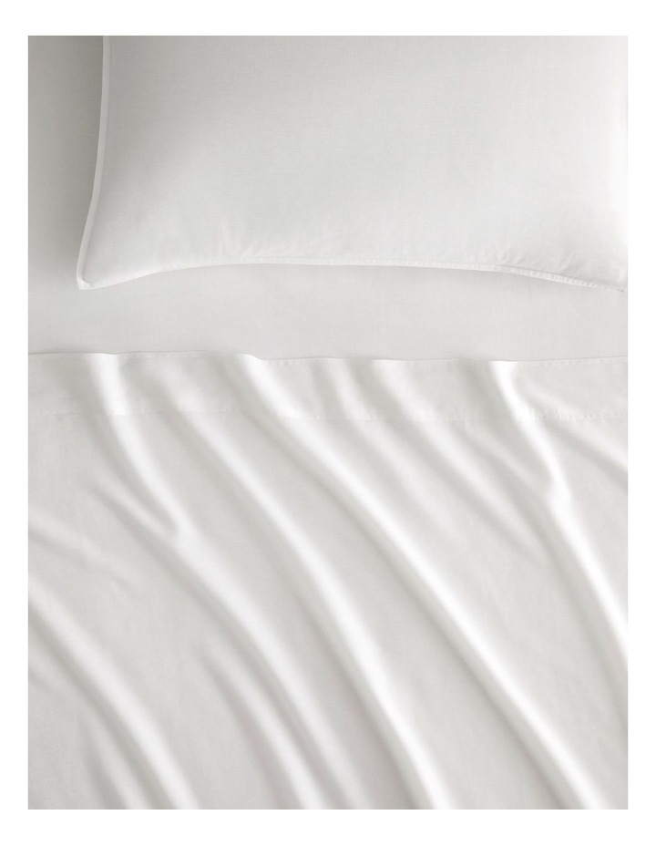 Supersoft Lyocell Linen Sheet Set Collection in White image 1