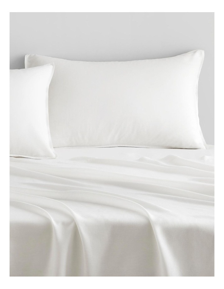 Supersoft Lyocell Linen Sheet Set Collection in White image 2
