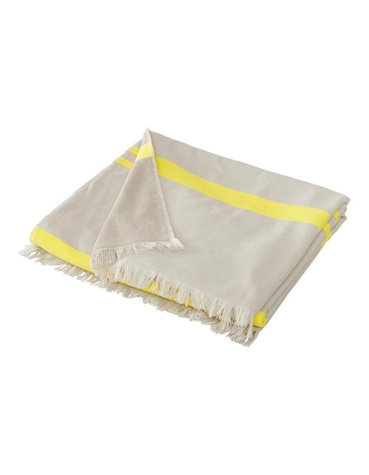 Tropicolo Beach Towel In Flax image 2
