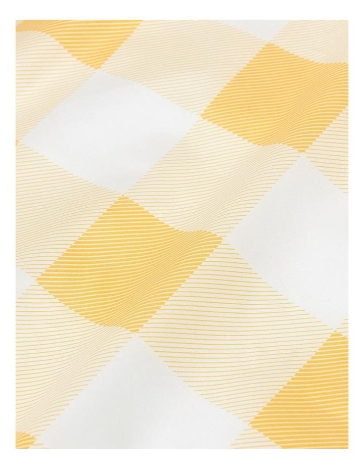 Picnic Check Sheet Set in Dijon image 3