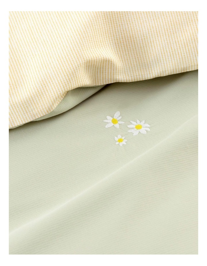 Daisies Bed Linen Collection in Soft Green image 4