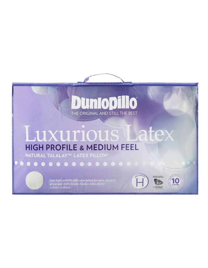 Luxurious High Profile & Medium Feel Latex Pillow in White image 1