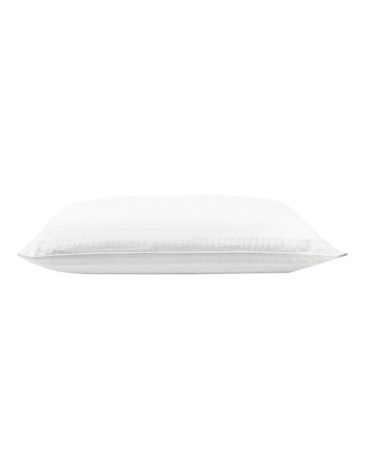 Luxurious High Profile & Medium Feel Latex Pillow in White image 2
