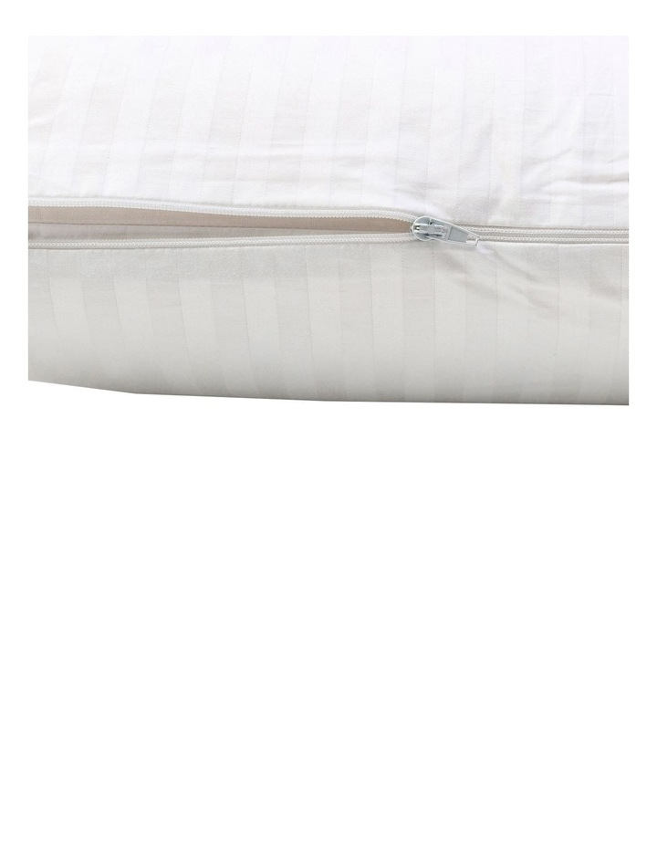 Luxurious High Profile & Medium Feel Latex Pillow in White image 3