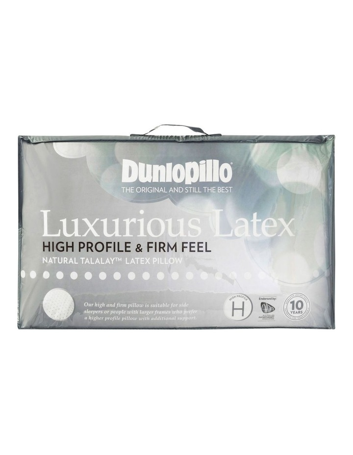 Luxurious Latex Pillow - High Profile & Firm Feel image 1
