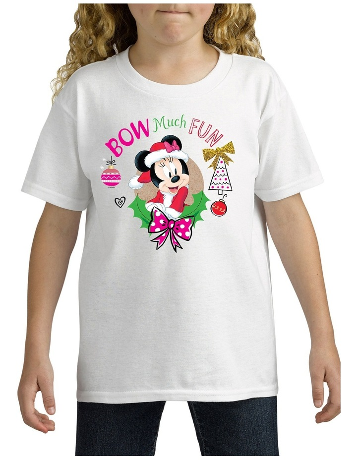 Personalised Disney Kids Minnie Bow Christmas T-Shirt image 2