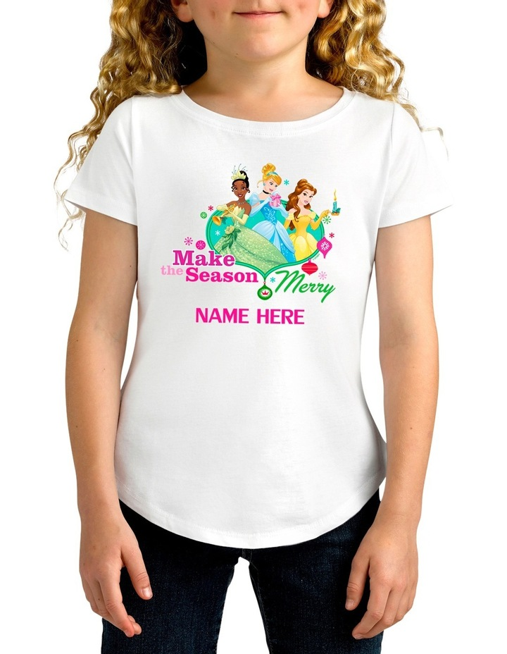 Personalised Disney Kids Princess T-Shirt image 1