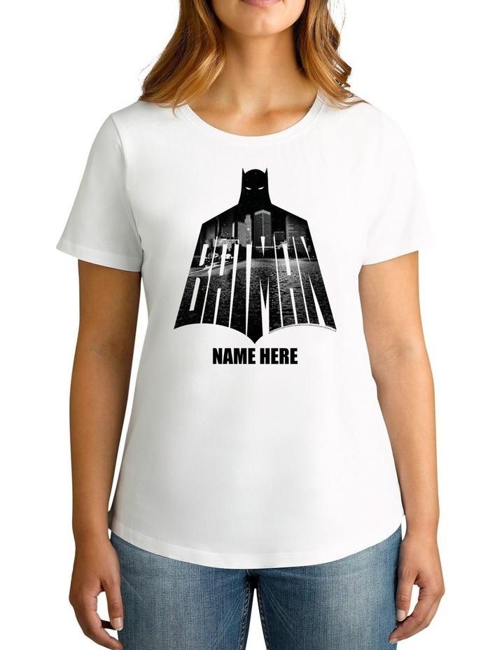 Twidla Women's DC Batman Shadow Personalised Cotton T-Shirt image 1