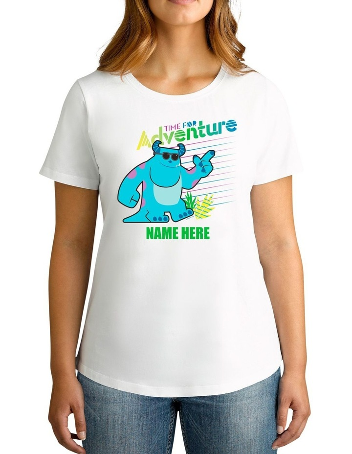 Twidla Women's Disney Monsters, Inc. Time For Adventure Personalised Cotton T-Shirt image 1