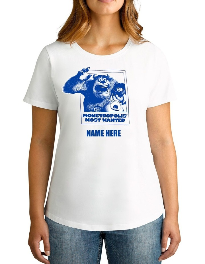 Twidla Women's Disney Monsters, Inc. Monstropolis' Most Wanted Personalised Cotton T-Shirt image 1
