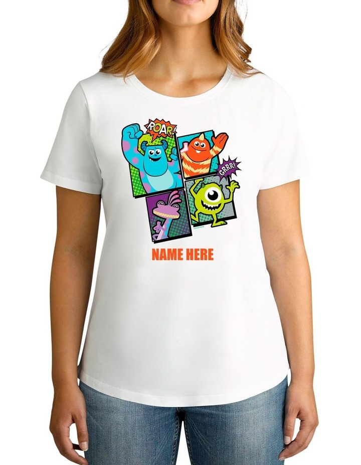 Twidla Women's Disney Monsters, Inc. Roar! Personalised Cotton T-Shirt image 1