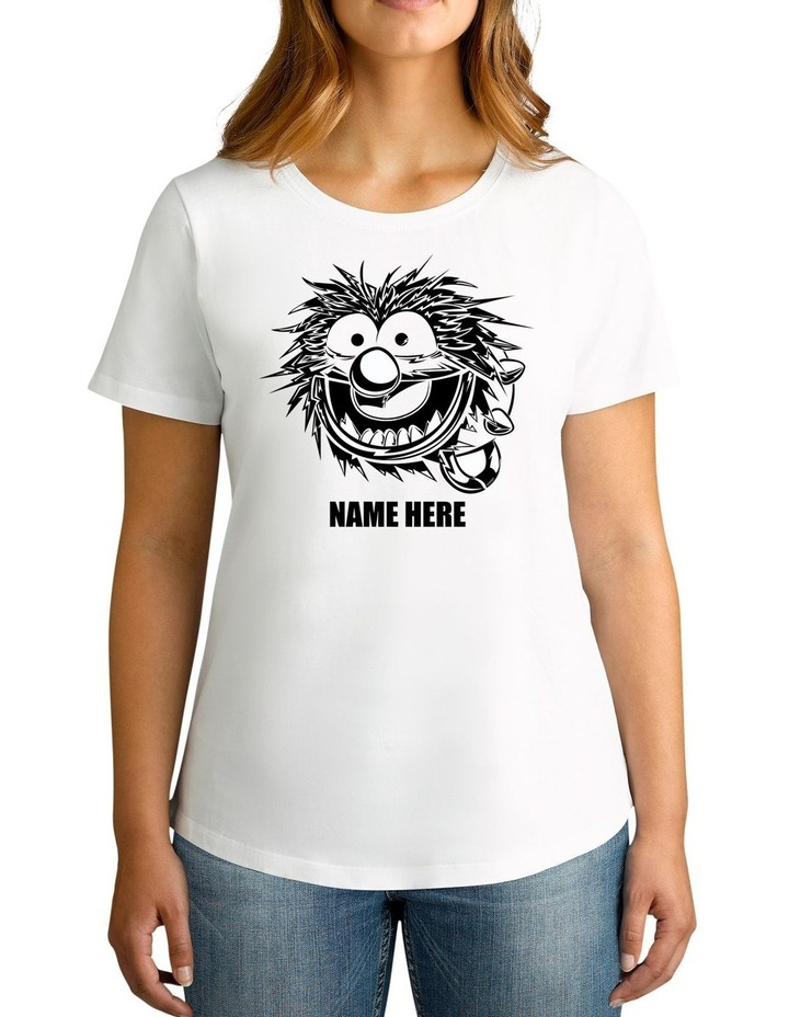 Women's Disney The Muppets Animal Sketch Personalised Cotton T-Shirt image 1