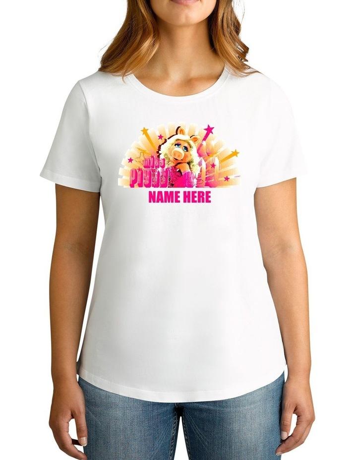 Twidla Women's Disney The Muppets Miss Piggy Personalised Cotton T-Shirt image 1
