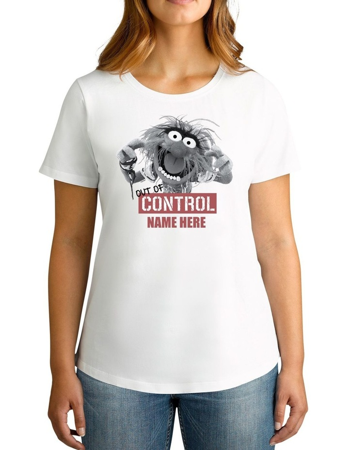 Women's Disney The Muppets Animal Out Of Control Personalised Cotton T-Shirt image 1