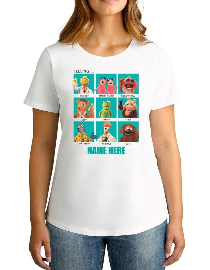 Women's Disney The Muppets Characters Feeling Personalised Cotton T-Shirt image 1