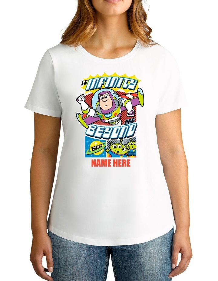 Women's Disney Toy Story Buzz Personalised Cotton T-Shirt image 1