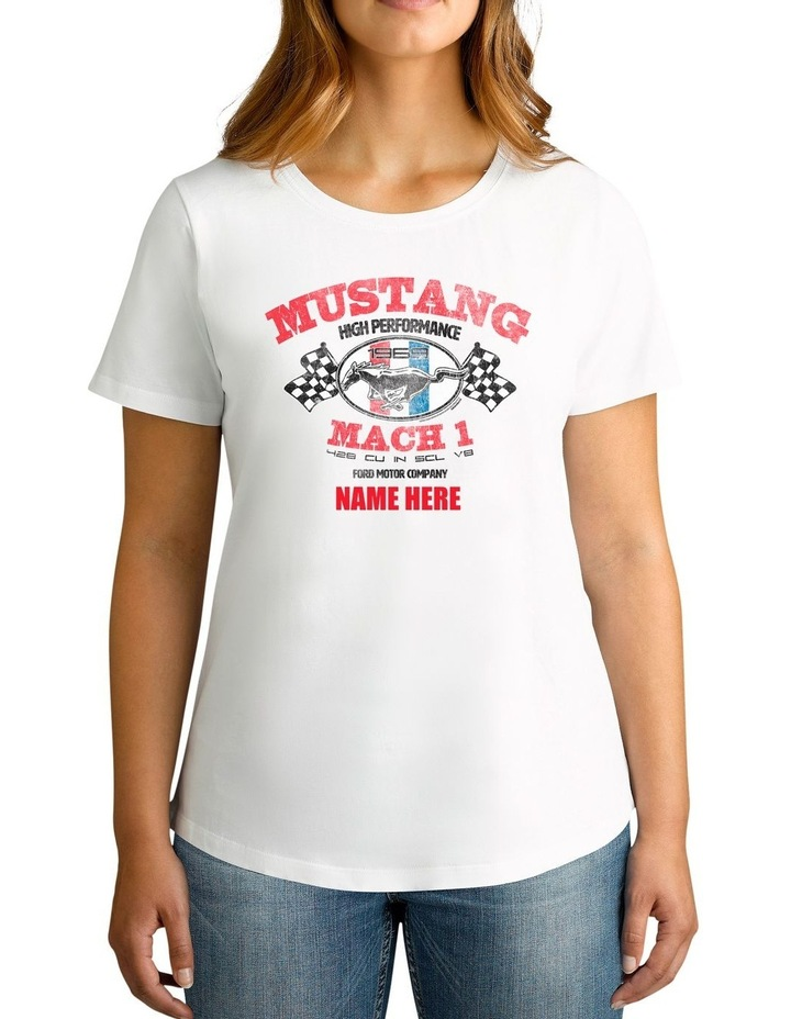 Women's Ford Mustang Mach 1 Personalised Cotton T-Shirt image 1