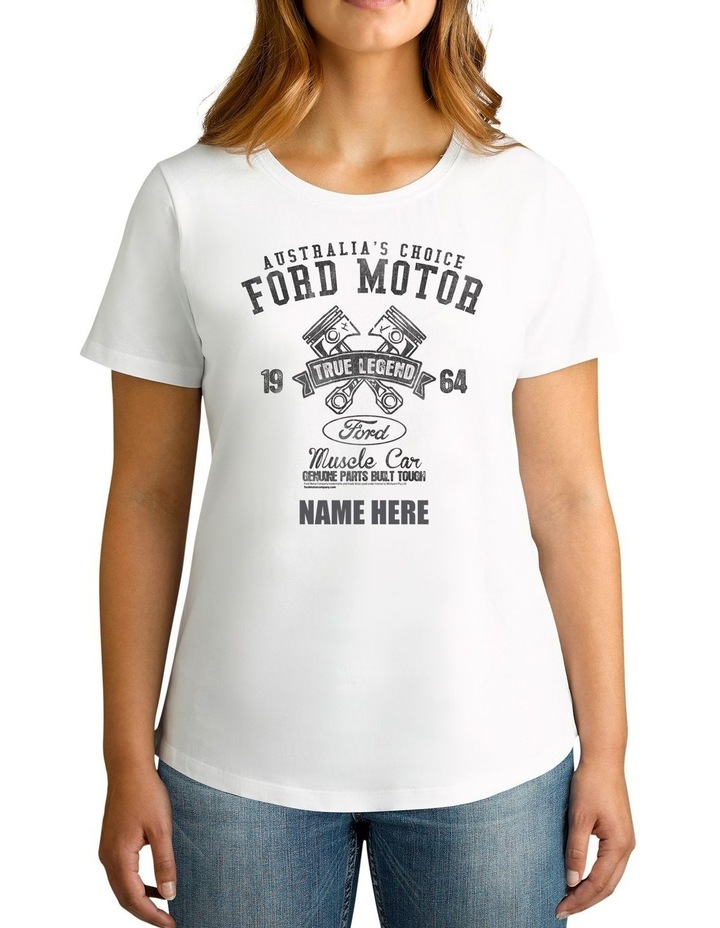Women's Ford 1964 True Legend Personalised Cotton T-Shirt image 1
