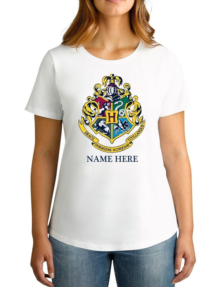 Women's Harry Potter Emblem Personalised Cotton T-Shirt image 1