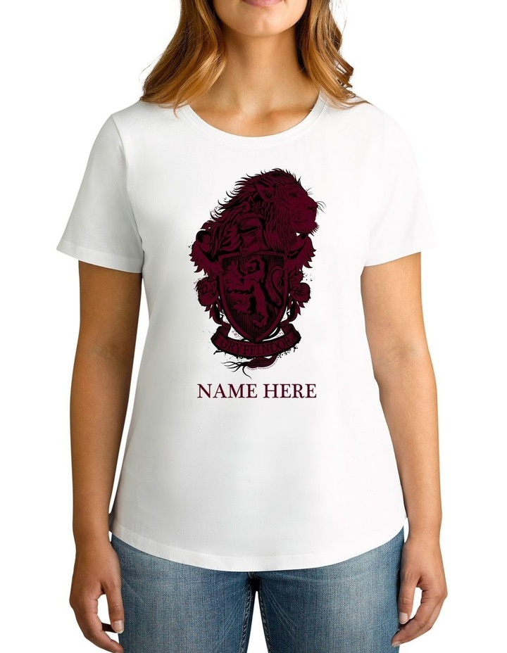 Women's Harry Potter Gryffindor Personalised Cotton T-Shirt image 1