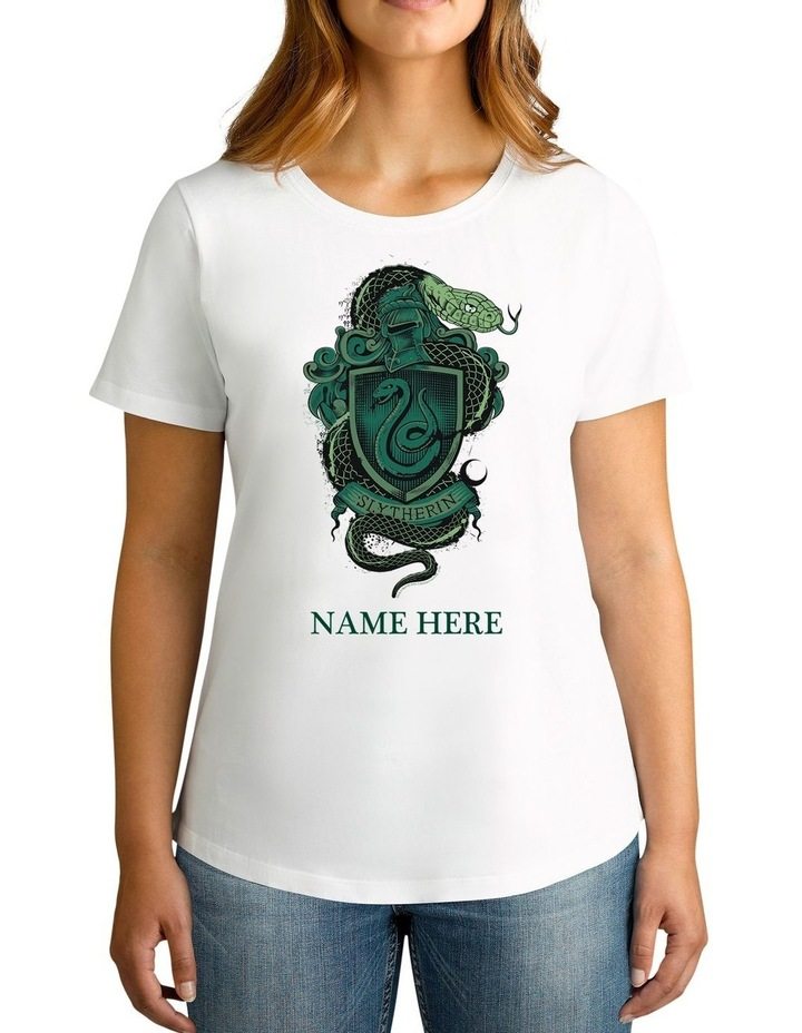 Twidla Women's Harry Potter Slytherin Personalised Cotton T-Shirt image 1