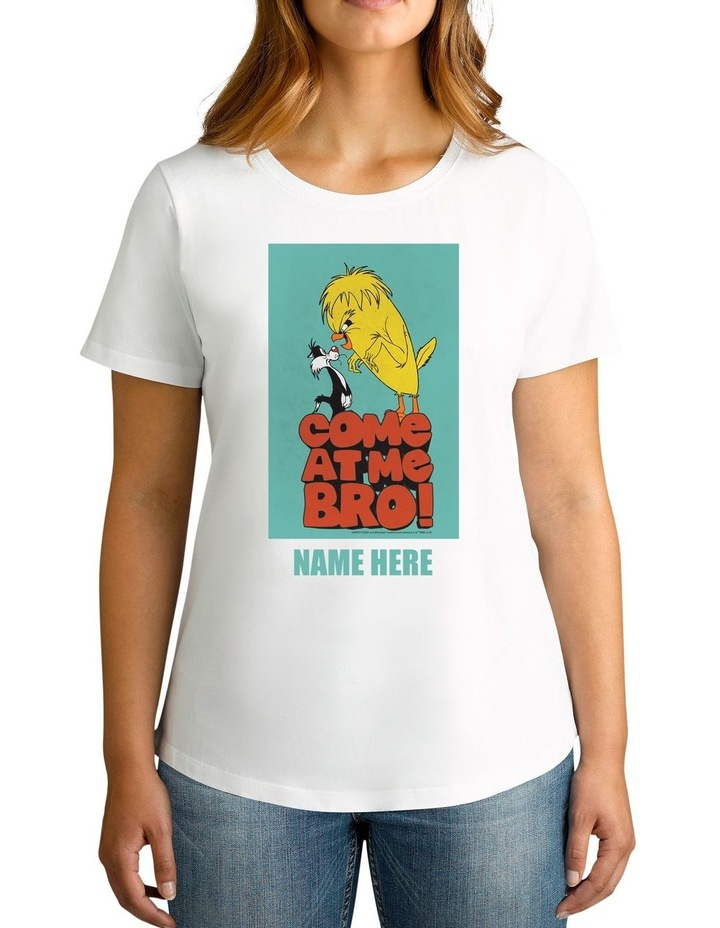 Women's Looney Tunes Tweety Bro Personalised Cotton T-Shirt image 1