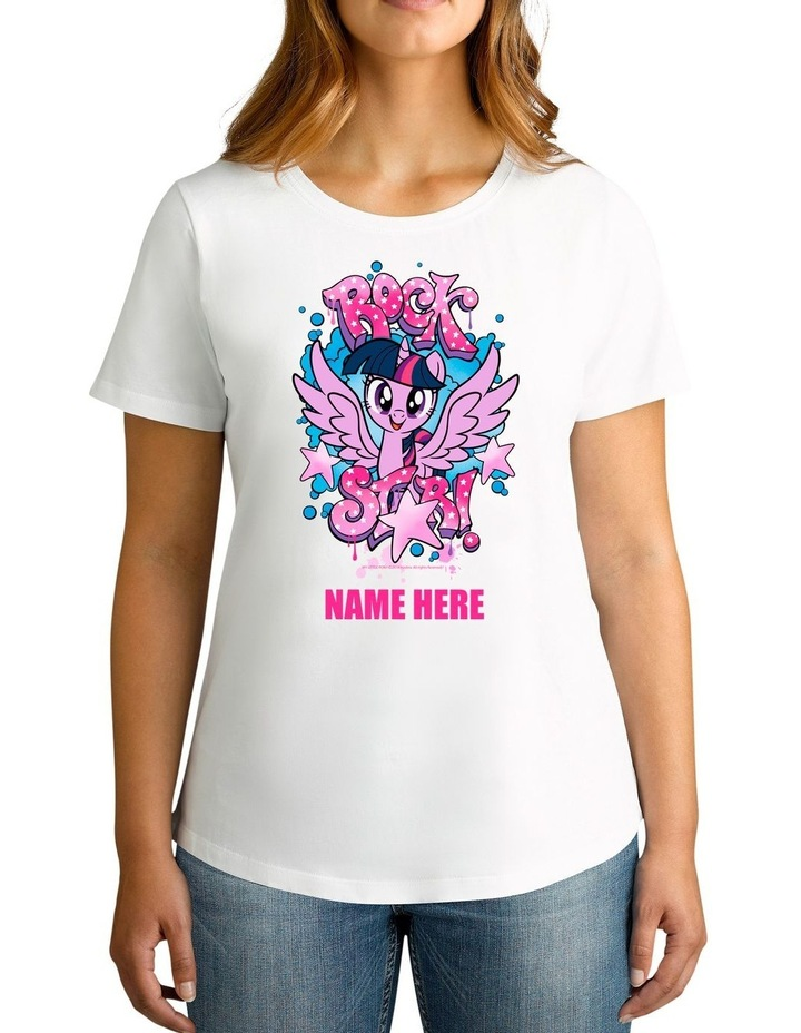 Women's My Little Pony Rock Star Personalised Cotton T-Shirt image 1